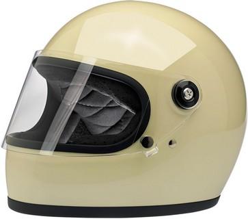 XL Gloss Vintage White Biltwell Gringo S Helmet