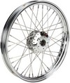Drag Specialties Front Wheel 21X2.15 Single/Dual-Disc 40-Spoke Chrome