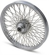 Drag Specialties Front Wheel 21X2.15 Single/Dual-Disc 60-Spoke Chrome