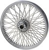 Drag Specialties Front Wheel 21X2.15 Single/Dual-Disc 80-Spoke Chrome