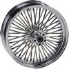 Drag Specialties Fat Daddy Front Wheel 18X3.5 Dual-Disc Chrome 18X3.5F