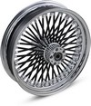 Drag Specialties Fat Daddy Front Wheel 18X3.5 Dual-Disc Black F.Wheel