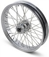 Drag Specialties Front Wheel 21X3.5 Dual-Disc 40-Spoke Chrome F Whl 21