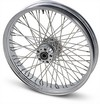 Drag Specialties Front Wheel 21X3.5 Dual-Disc 60-Spoke Chrome F Whl 21