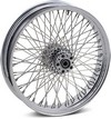 Drag Specialties Front Wheel 21X3.5 Dual-Disc 80-Spoke Chrome F Whl 21