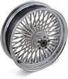 Drag Specialties Fat Daddy Front Wheel 16X3.5 Dual-Disc Chrome Wheel F