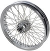 Drag Specialties Front Wheel 21X3.5 Dual-Disc 60-Spoke Chrome Wheel Ft