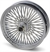 Drag Specialties Wheel Assemblies Laced 50-Spoke Front Chrome Wheel Ft