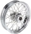Drag Specialties Rear Wheel 16X3.5 40-Spoke Chrome 16X3.5-40 Fx Rr Stl