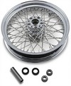 Drag Specialties Rear Wheel 16X3.5 60-Spoke Chrome 16X3.5-60 Fx Rr Stl