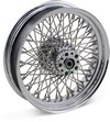 Drag Specialties Rear Wheel 16X3.5 80-Spoke Chrome 16X3.5-80 Fx Rr Stl