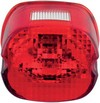 Drag Specialties Taillight Lens Laydown Red W/ Top Tag Window Laydwn T