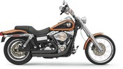 Bassani Exh Frswp 06-11 Fxd Bk Exhaust Firesweep Turnout Black