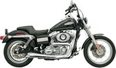 Bassani Exhaust Rr2-1Up Fxd Chr Exhaust Road Rage 2-Into-1 Chrome