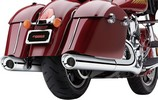 ''Cobra Mufflers Scallop Indian Slip On Muffler 4'''' Chrome With Scallop