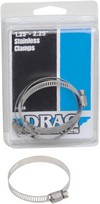 Drag Specialties Stainless Steel Exhaust Clamp 1.25-2.25 Clamps Ss 1.