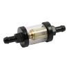 Clear-View Fuel Filter, 5/16 Black