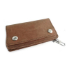 Amigaz Vintage Brown Leather Biker Wallet  With two snap closure with
