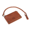 Dickies Barren Springs Leather Wallet Brown With Key Chain  100% buffa