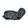Biltwell Enamel Pin 4 Cam Black/White