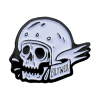 Biltwell Pin Skull White/Black