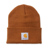 Carhartt Carhartt Rib Knit Beanie Watch, Carhartt Brown One Size Fits