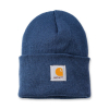 Carhartt Carhartt Rib Knit Beanie Watch, Dark Blue One Size Fits All