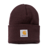 Carhartt Rib Knit Beanie Watch Deep Wine