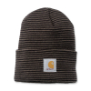 Carhartt Carhartt Rib Knit Beanie Watch Tarmac/Black Stripe One Size F