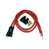 Taylor Braided Cloth Wire Set Univ  RED WITH BLACK TRACER WITH TWO 24