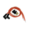 Taylor Braided Cloth Wire Set Univ  ORANGE WITH BLACK TRACER WITH TWO