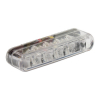 Led Taillight Shorty, Clear Lens  ECE APPROVED 40MM WIDE X 8MM HIGH X