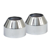 Fork Boot Covers, Chrome 80-86 Fxwg, 84-07 Fxst Models (Excl.Fxstd/C),
