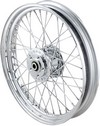 Drag Specialties Front Wheel 19''X2.5 Dual-Disc Laced Chrome 19 Chrome
