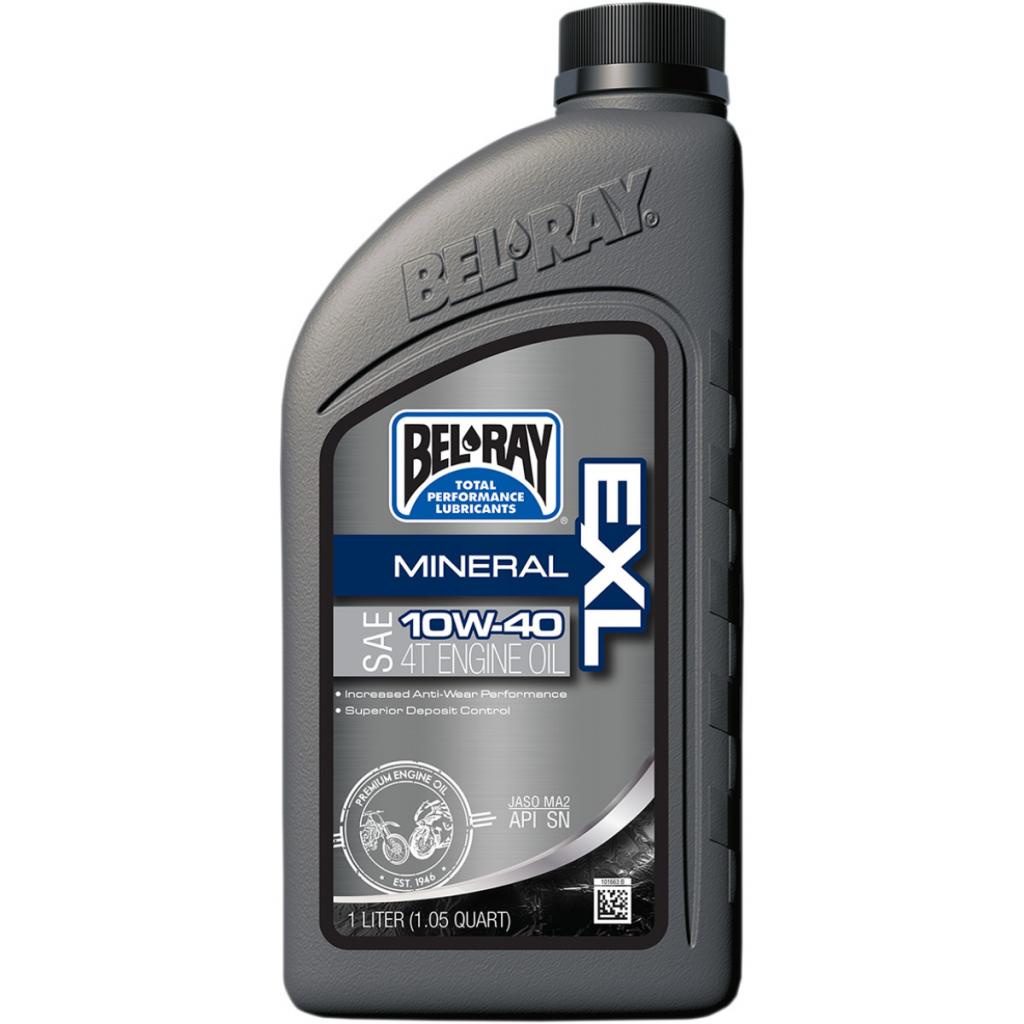 Olja Bel Ray Exl Helmineralisk Motorolja Sae 10w 40 1 Liters Flaska